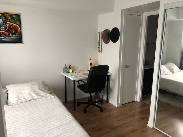 Spacious master room in Liberty village.