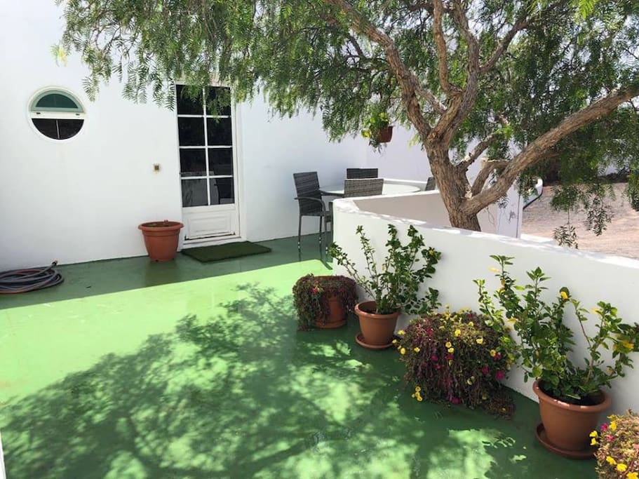 Private entrance and terrace into             Secret Chill King Size en-suite.