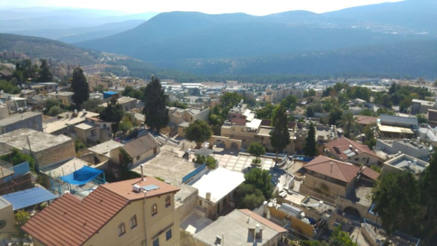 Best View of Mount Meron from the Top of Old Town
