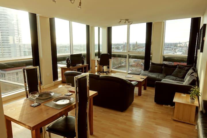 Birmingham City Centre Glass-wall Corner Penthouse