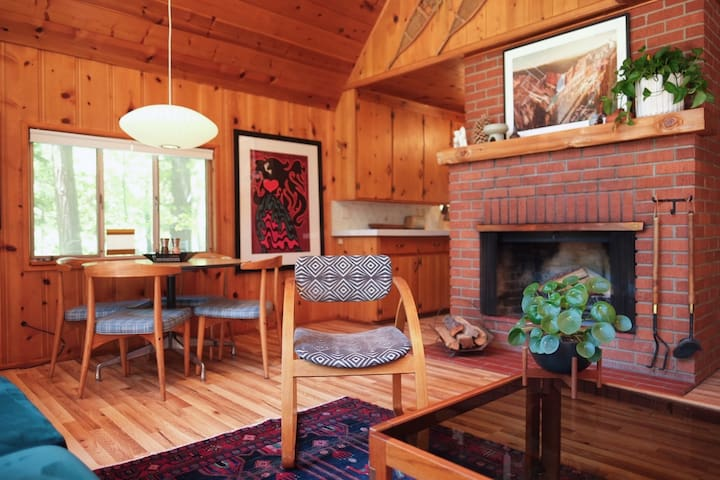 1950s Cabin with Hot Tub: A Mid-Century Retreat