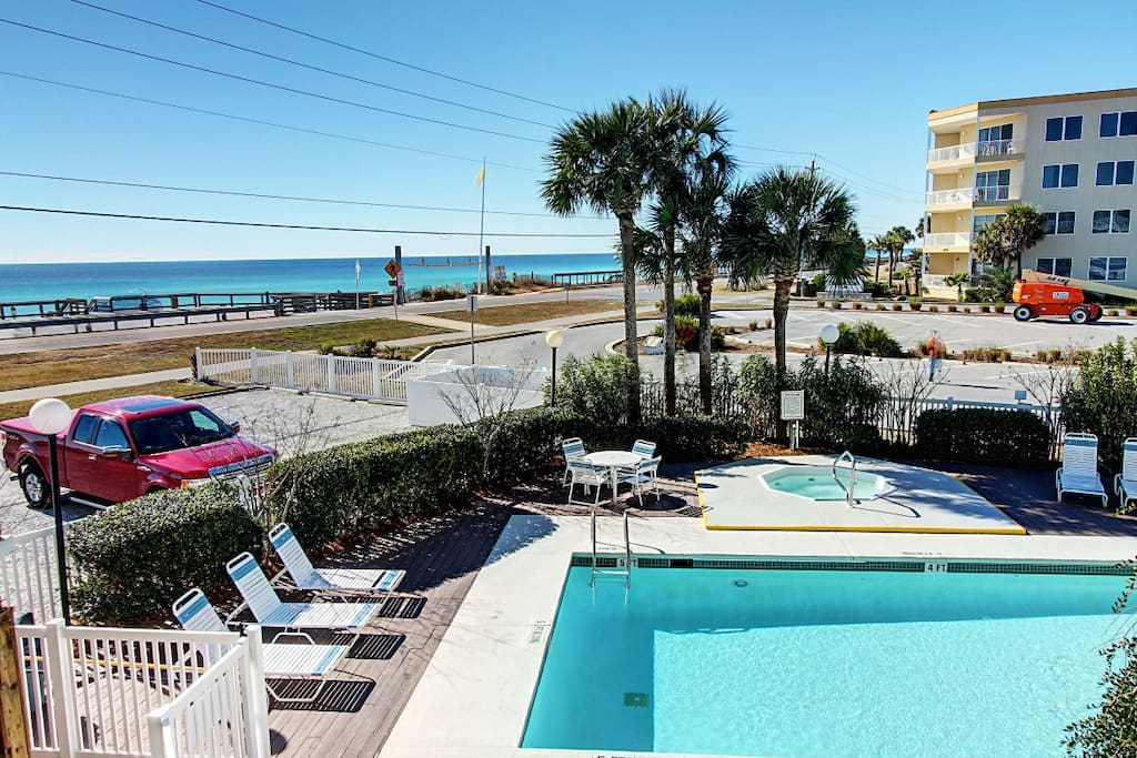 View of Gulf and Pool from Balcony!
