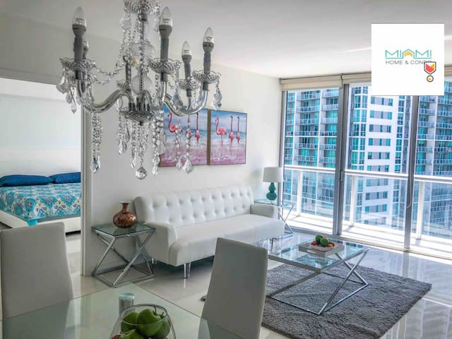 •ICON BRICKELL LUXURY APARTMENT FREE SPA+GYM 5*C!