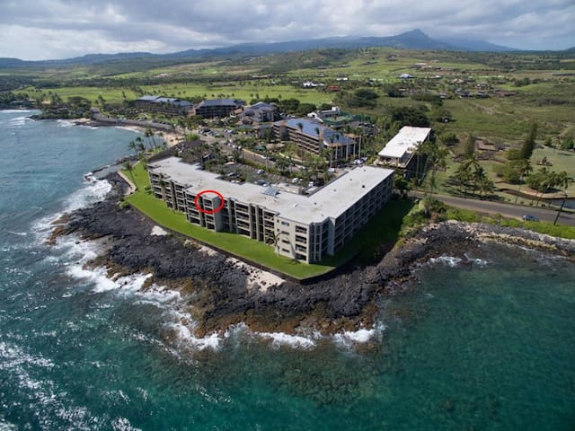 Kuhio Shores #412 - Amazing Panoramic Top Floor Views and A/C!