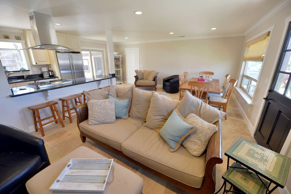 With the open layout this beautiful living room is the perfect gathering space for friends and family
