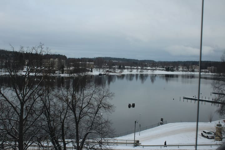 City apartment with a river view - Heinola
