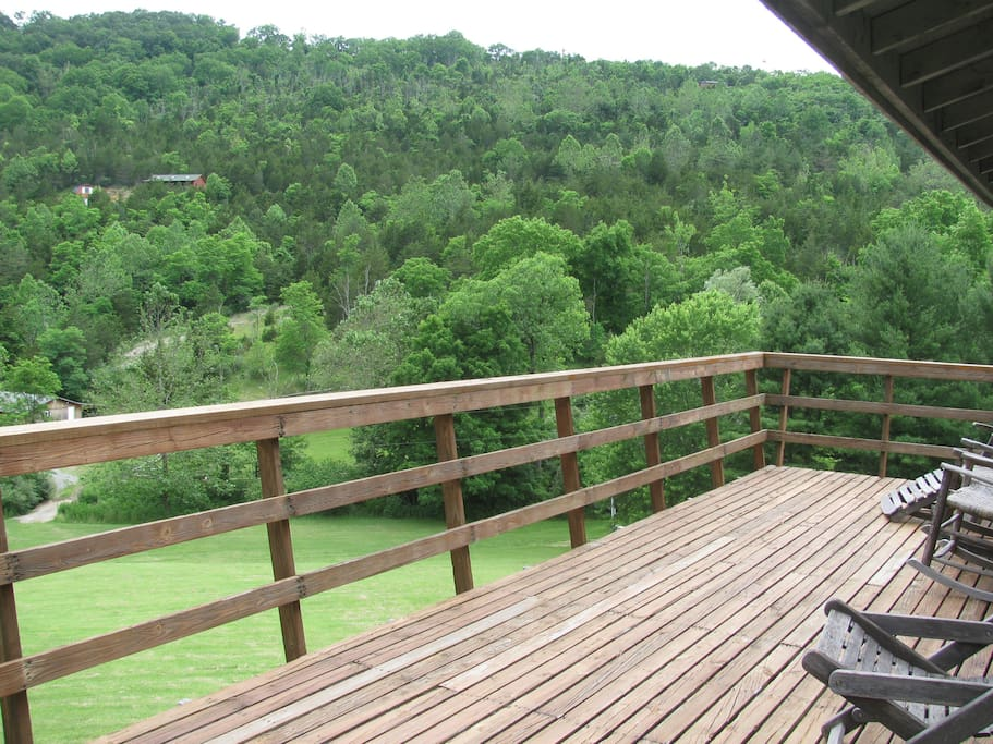 Sitting on deck overlooking your view