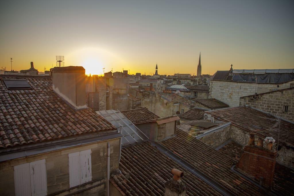Vue lever du soleil - Sunrise view