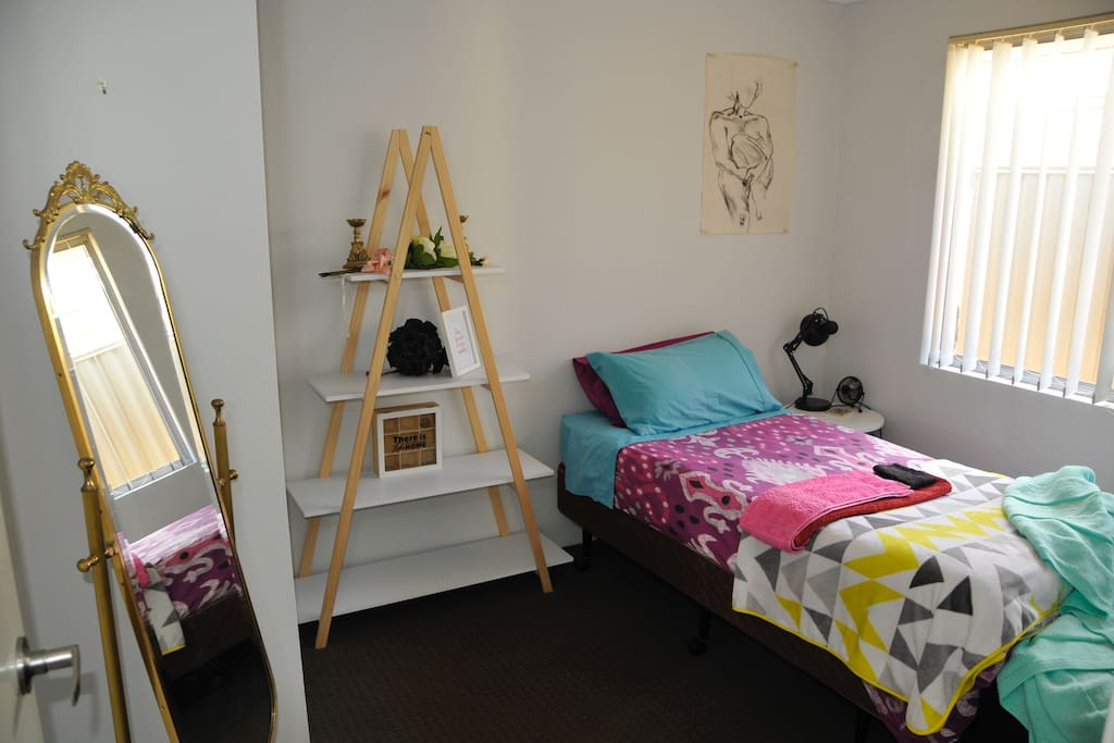 Your room is simple yet all you need to rest and recover