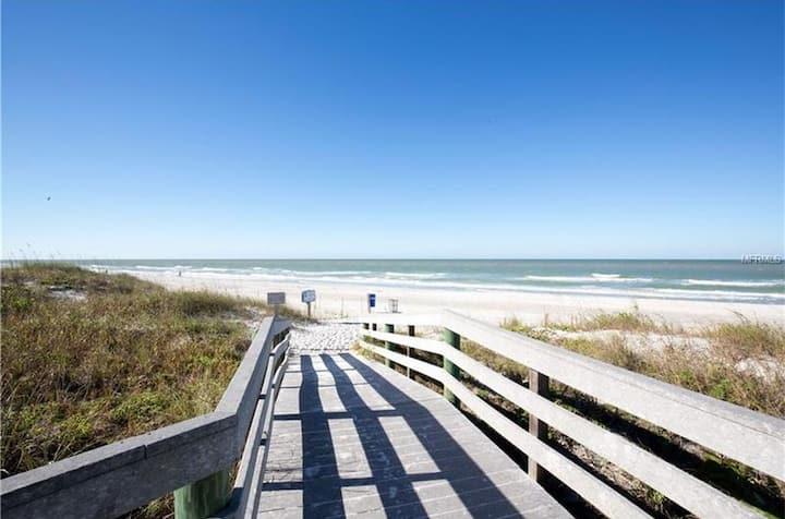 Beach paradise with plenty of sun, sand &fun.