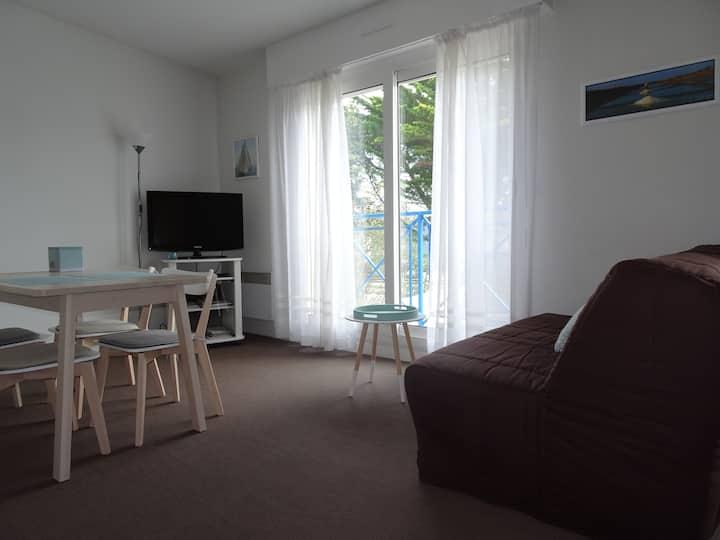 Appartement de centre ville entre parc et plages .