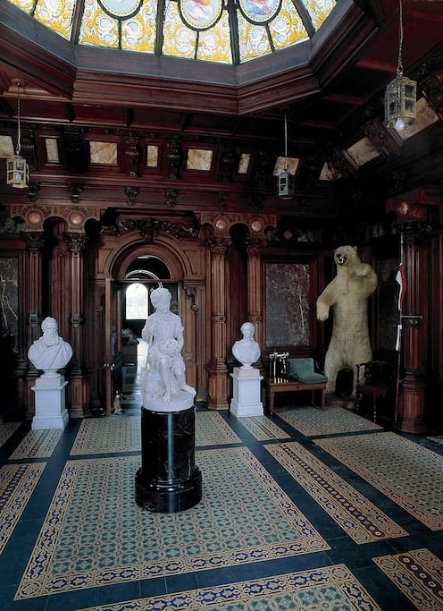 Today's visitors will encounter beautiful stone work and sumptuous interior detailing AND a polar bear