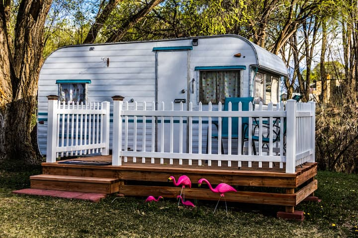 """Sugar Shack"" Retro Travel Trailer"