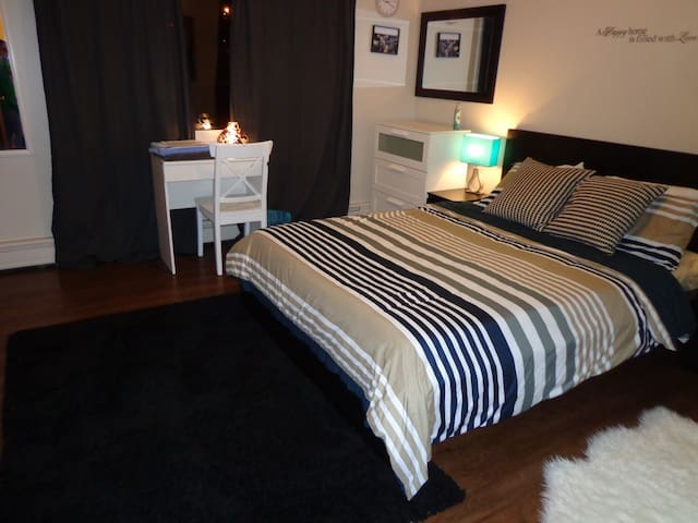 2Private bedrooms(5 Guests)Downtown - Sudbury - Appartement