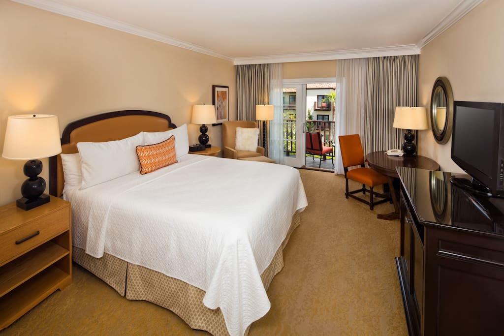 Sink into your luxury king-sized bed at the end of a busy day.