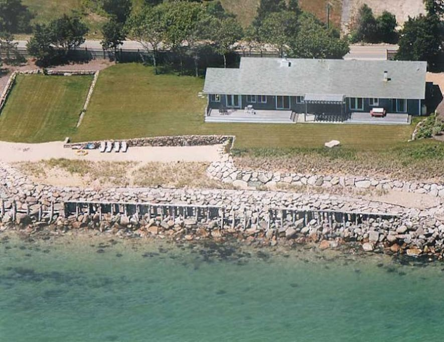 Nearly one acre of direct ocean front land on Martha's Vineyard. It really just doesn't get much better than this....