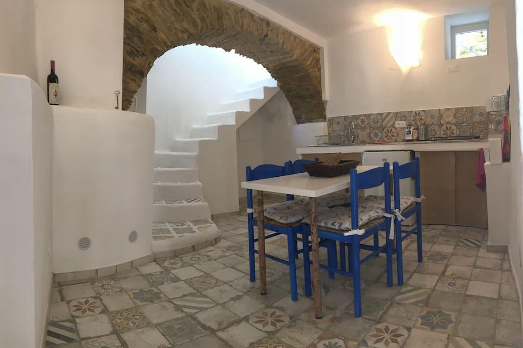 living room - kitchensala da pranzo - cucina