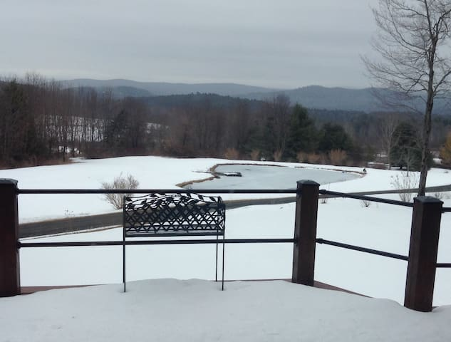 Ski out the door on 65 acres near Woodstock
