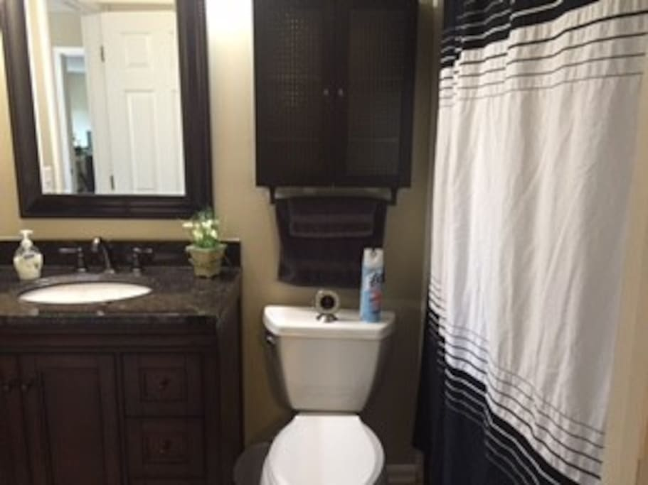 Jack-n-jill bathroom, accessible from two upstairs bedrooms.