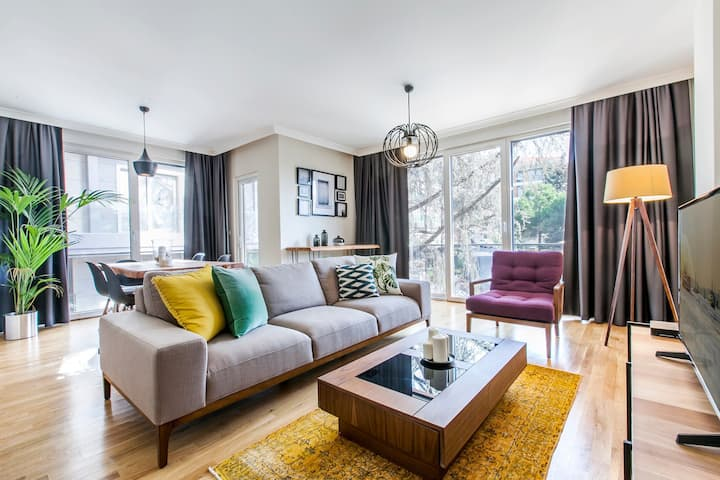 Fully Furnished Etiler 2BR Overlooking Greenery