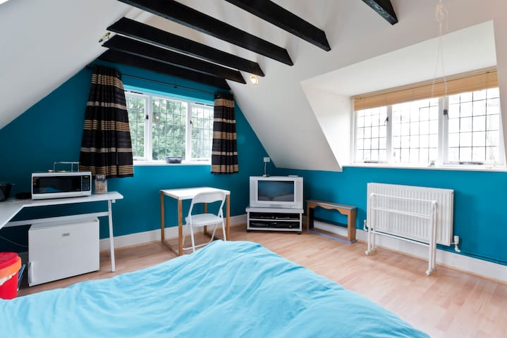 Large semi-rural double room with en-suite - Burnham