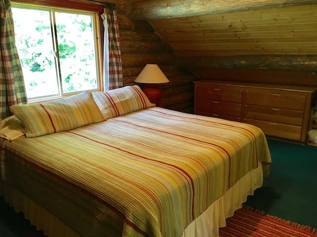Master bedroom has a king bed