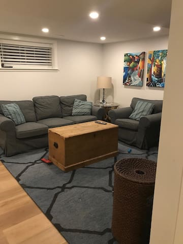 Living room with TV.  Wifi included.