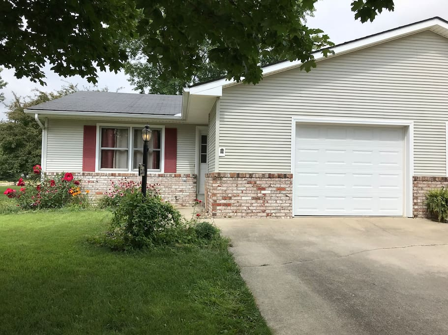 Front of home with attached garage