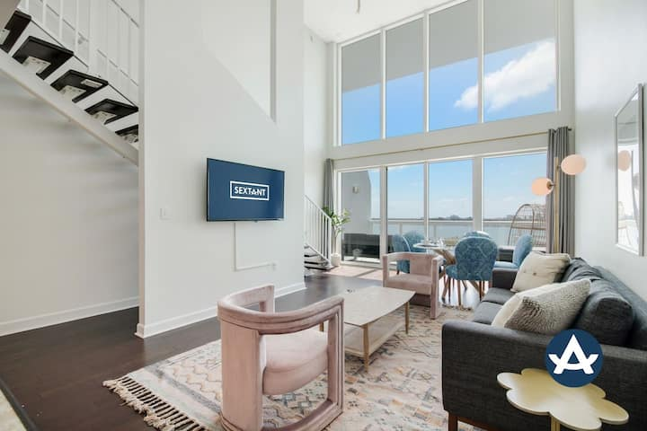 Sextant | 2-Story Waterfront Condo #11 | Heated Pool | 10 mins to Miami Beach