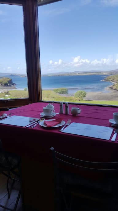 Fiscavaig bay from the breakfast table!