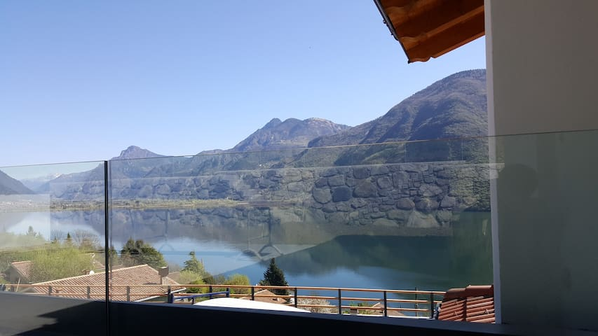 Rocca d'Anfo lake view. NOCCIOLO
