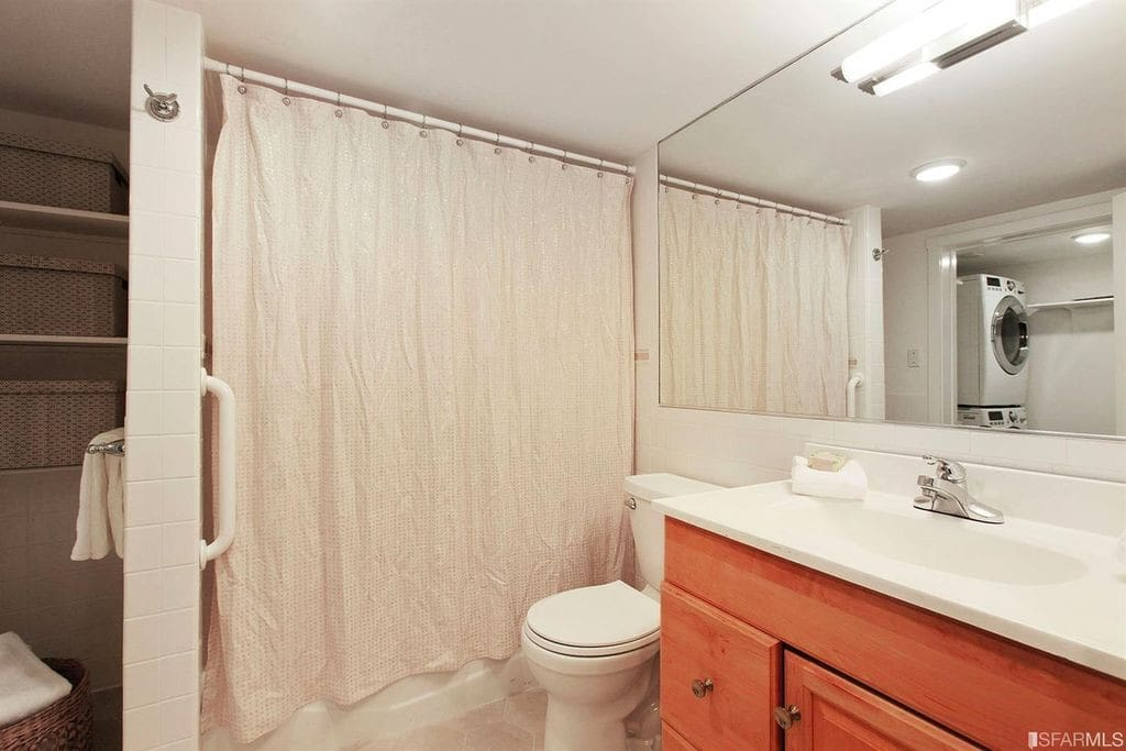 Bathroom with Laundry Access