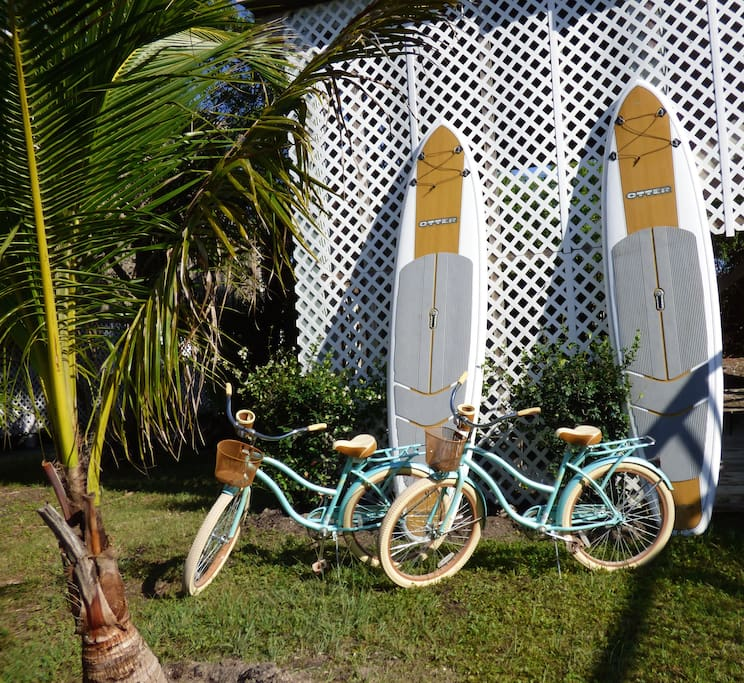 Beach Bikes and stand up paddle boards for your enjoyment