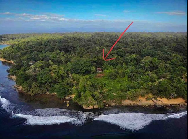 our 2 acre property is on a curve with ocean views, beaches and wonderful breezes