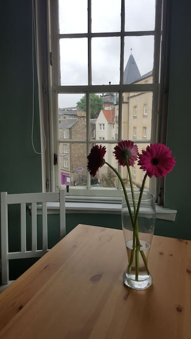 The view from the dining table
