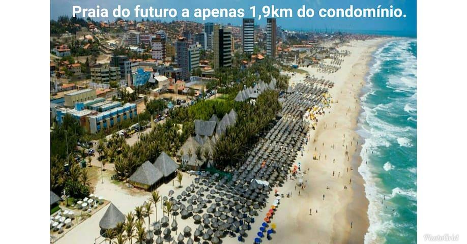 A 7 min Praia do futuro,Vizinho o Shopping Rio mar