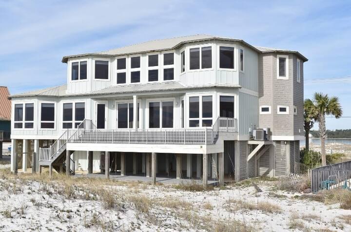 Beautiful Beachfront 'Get Over It' 6 Bedroom, 6 Bath Custom Home Elevator - 4297
