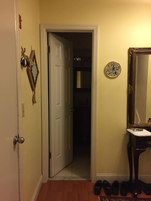 Private Bathroom Across Hall From Bedroom