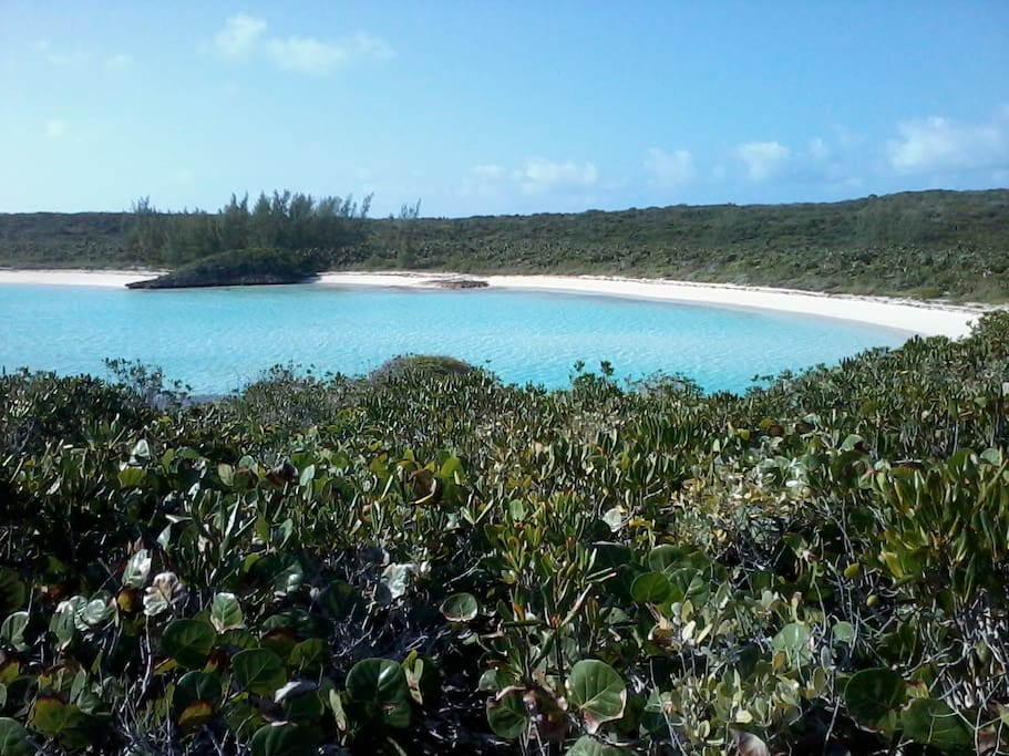 Hilltop view of Dean's Blue Hole beach-This beach is only a 10 minute drive south of Vala's Vacation Rentals Units 1 & 2.