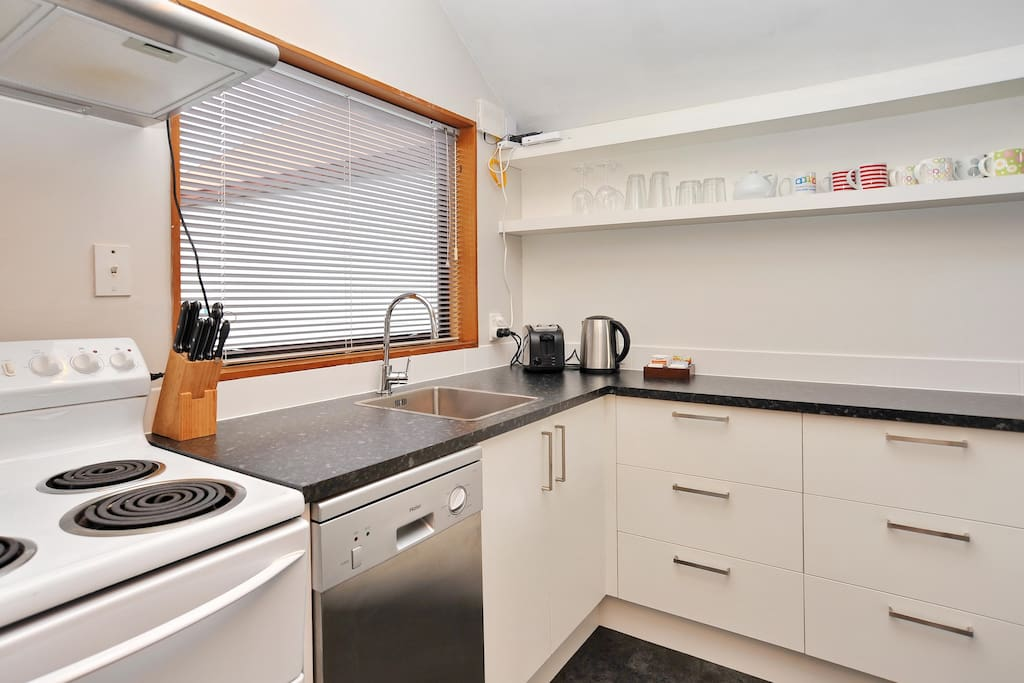 The modern and fully equipped kitchen was renovated this year