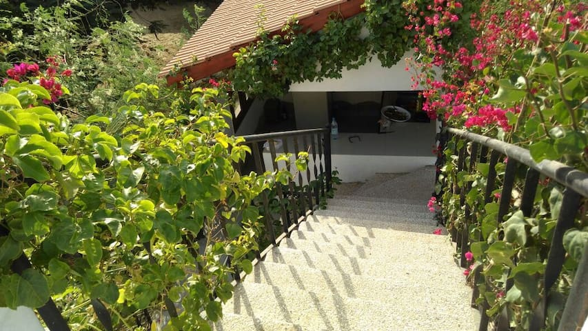 Belle rare villa fleurie face plage - Ngaparou - Dům