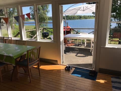 Cottage w private beach and sauna