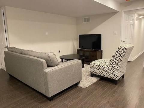 Beautifully furnished 2 bed basement apartment