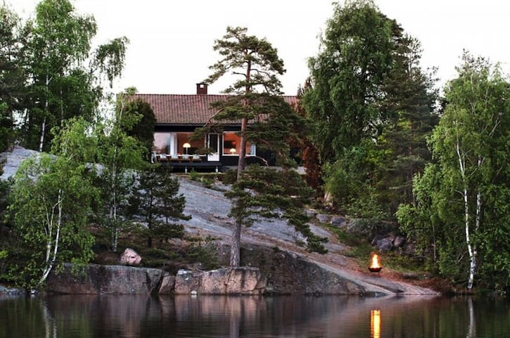 House in Fredrikstad by romantic lake. - Fredrikstad
