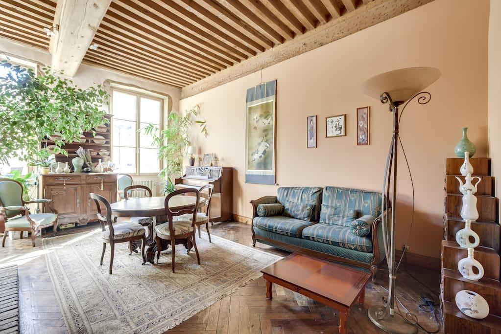 Appartement 1 - Canapé et espace repas