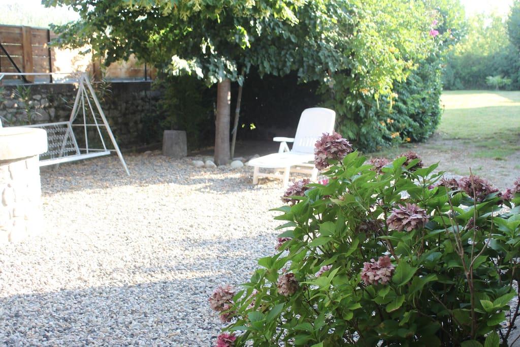 Un jardin d'agrément privatif