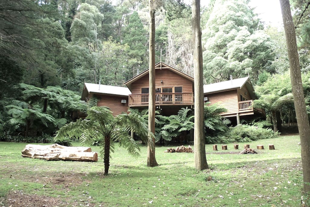 Accommodation for six friends.            Three separate lodges .   From one hundred & thirty dollars  per Lodge .. Full  English  Breakfast*
