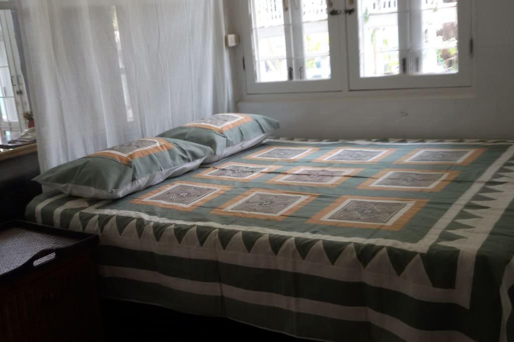 Comfortable full-sized bed