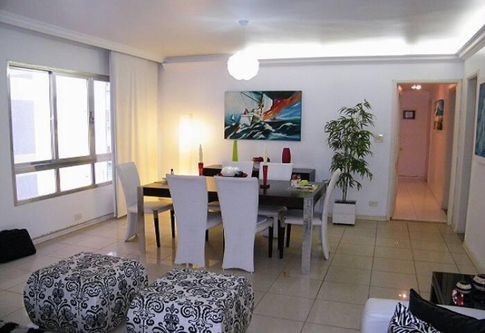 Sala de jantar e visita