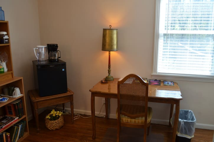Desk for working in the sitting room.